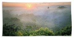 Sunrise In Tikal Beach Towel