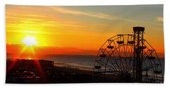 Sunrise Ocean City Boardwalk Beach Towel