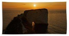 Sunrise Old Harry Rocks Beach Sheet