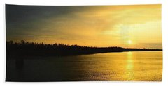 Beach Sheet featuring the photograph Sunrise On Ole Man River by Michael Hoard