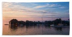 Sunrise On St. Michaels Md Harbor Beach Sheet