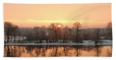 Sunrise On The Ema River Beach Towel