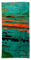 Beach Towel featuring the painting Sunrise On The Water by Jacqueline McReynolds