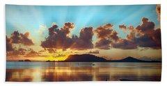 Sunrise Over Marine Corps Base Hawaii Beach Sheet