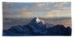 Sunrise Over Mt Huayna Potosi Beach Sheet