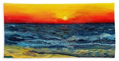 Beach Towel featuring the painting Sunrise Over Paradise by Shana Rowe Jackson