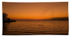 Beach Sheet featuring the photograph Sunrise Over The Lake Of Two Mountains - Qc by Juergen Weiss