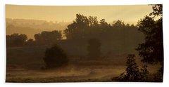 Sunrise Over The Mist Beach Towel