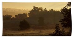 Sunrise Over The Mist Beach Sheet