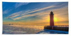 Sunrise Pierhead Beach Towel