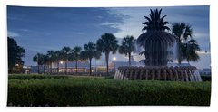 Sunrise Pineapple Fountain Beach Towel