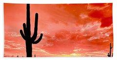 Sunrise Saguaro National Park Beach Towel