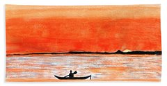 Sunrise Sail Beach Towel by Sonali Gangane