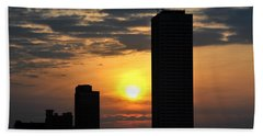 Sunrise Silhouette Buffalo Ny V2 Beach Towel by Michael Frank Jr