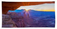 Sunrise Through Mesa Arch Beach Sheet