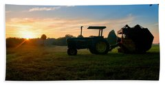 Sunrise Tractor Beach Towel