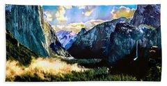 Sunrise Yosemite Valley Nationalpark Beach Sheet