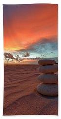 Beach Towel featuring the photograph Sunrise Zen by Sebastian Musial