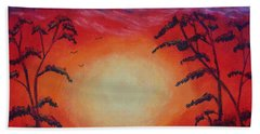 Sunset 1 Beach Towel by Jeanne Fischer