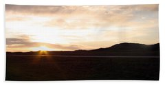 Beach Towel featuring the photograph Sunset Across I 90 by Cathy Anderson