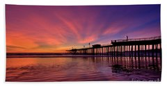 Sunset Afterglow Beach Towel