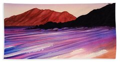 Sunset At Black Rock Maui Beach Towel
