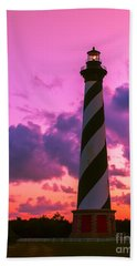 Sunset At Cape Hatteras Vertical  Beach Towel by Nick Zelinsky