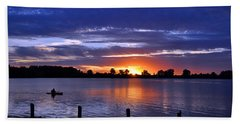 Sunset At Creve Coeur Park Beach Towel