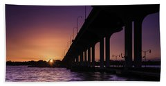 Sunset At Jensen Beach Beach Towel