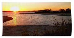 Sunset At Lake Skinner Beach Towel