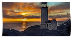 Sunset At North Head Beach Towel