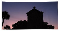 Sunset At The Gate Beach Towel