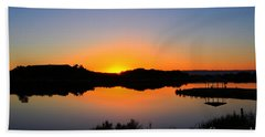 Sunset At The James M. Robb State Park Beach Towel by Bob Hislop
