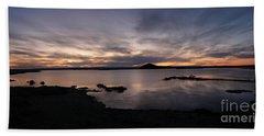 Sunset Over Lake Myvatn In Iceland Beach Sheet