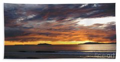 Sunset At The Shores Beach Sheet by Janice Westerberg