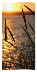 Beach Towel featuring the photograph Sunset Beach by Athena Mckinzie