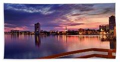 Sunset Balcony Of The West Palm Beach Skyline Beach Towel
