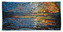 Sunset Before The Storm Beach Towel