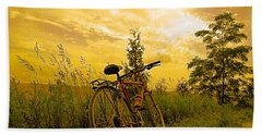 Sunset Biking Beach Towel