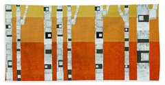 Sunset Birches Beach Towel