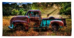 Sunset Chevy Pickup Beach Sheet