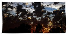 Sunset Clouds Beach Towel