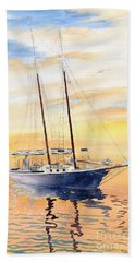 Sunset Cruise Beach Sheet by Melly Terpening