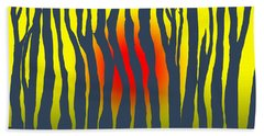 Sunset Deep In The Forest Beach Towel by Haleh Mahbod