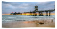 Sunset Drifting Under The Pier Beach Towel
