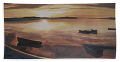 Sunset Evening Tide Beach Towel