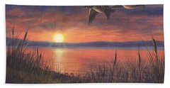 Sunset Flight Beach Towel