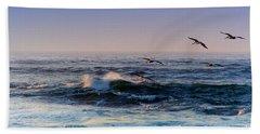 Sunset Fly Beach Towel by Kathy Bassett