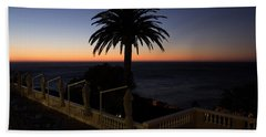Sunset From Porch Of Ellerman House Beach Towel