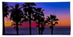 Sunset From The Ocean Park Inn Beach Towel